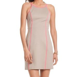 Trina Turk neon piped bodycon shift dress